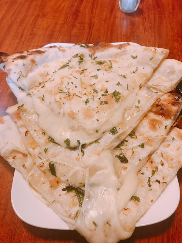 Cheese and garlic naan